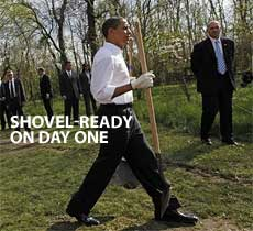 obama shovel ready humor