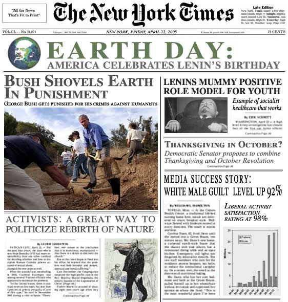 earth day politically correct satire