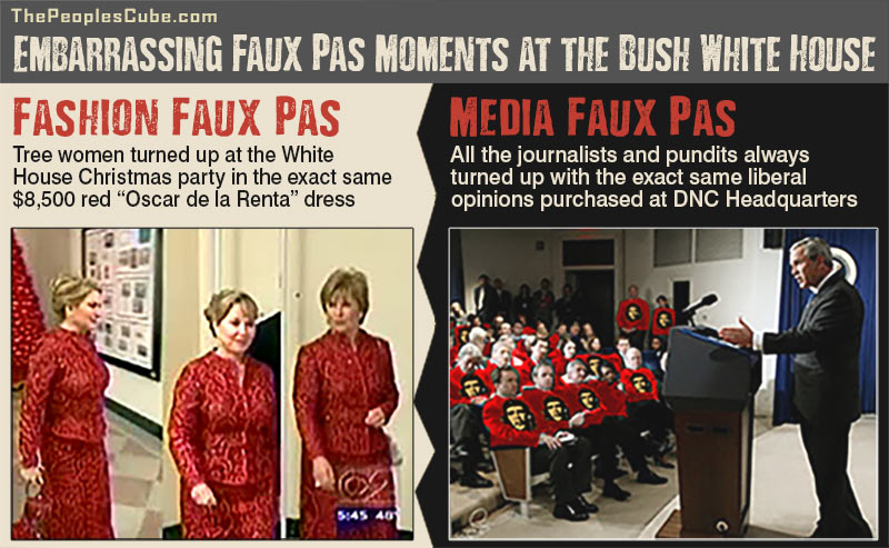 Embarrassing Faux Pas at the Bush White House satire