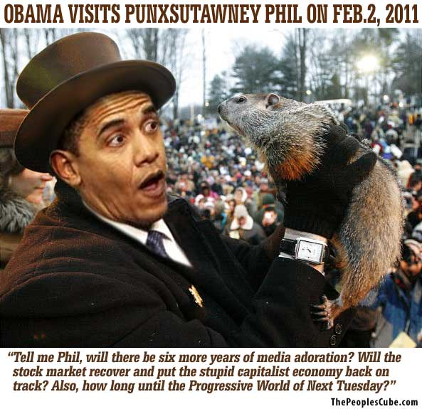 Obama on Groundhog Day funny picture