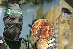 hamas nobel prize political cartoon