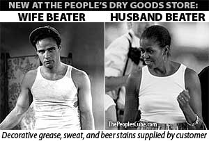 Wife beater Michelle Obama