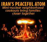 Iran's peaceful atom cartoon: Mini-nuclear neighborhood cookout, families together