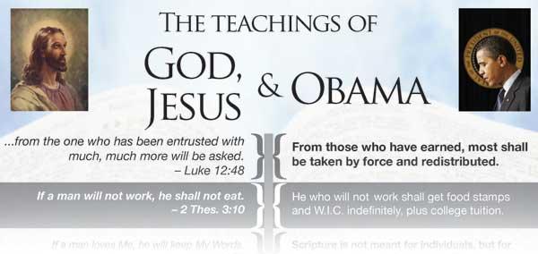 Obama vs Jesus chart