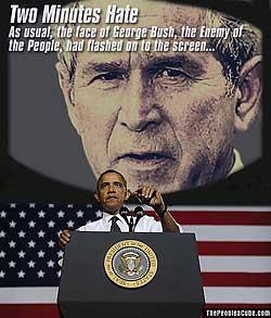 Obama Bush 1984 Two Minutes Hate Cartoon