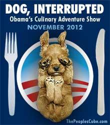 Obama Eats Dog funny election cartoon