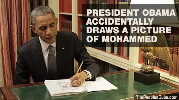 Obama draws a picture of Mohammed