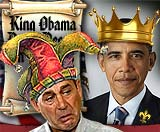 King Obama and Jester Boehner funny picture