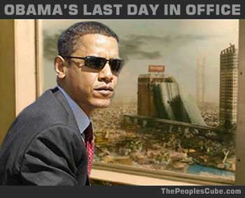 political humor obama last day in office