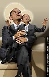 Obama: If I had a son satirical parody cartoon