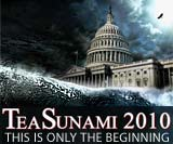 Tea Party Tsunami political cartoon