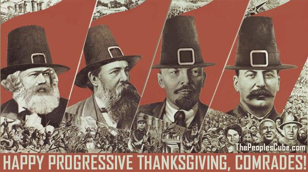 Communist Thanksgiving parody soviet poster