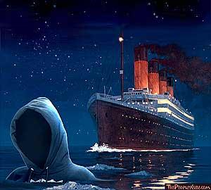 Titanic meets Travon Martin - editorial cartoon