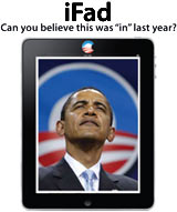iPad Obama political satire