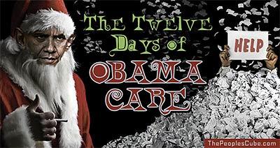 12 Days of Christmas ObamaCare cartoon