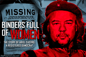 Ariel Castro Cleveland kidnapper as Che Guevara cartoon