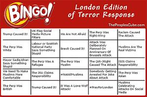 Terror Response Bingo: London Edition