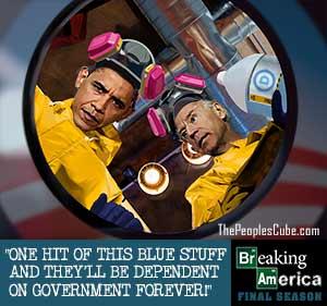 Breaking Bad America - Obama and Biden cartoon