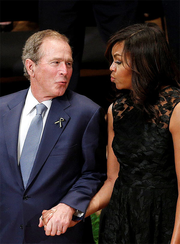 George Bush & Michelle Obama BFF