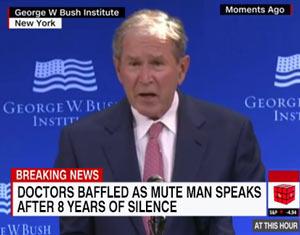 George Bush speaks
