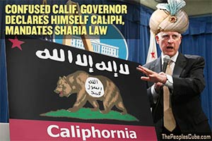 Calif. Gov. Brown - Caliph of Caliphornia