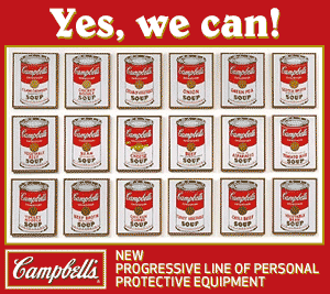 Yes, we can hurl canned food