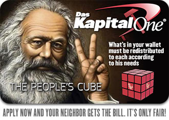 Das Kapital One People's Cube Card - Marx