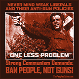 Che Guevara - ban people, not guns communist parody poster