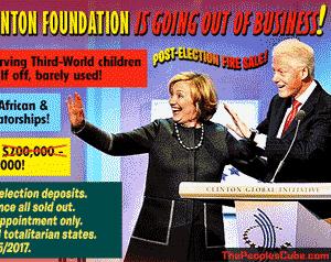 Clinton Foundation fire sale