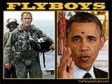 Bush and Obama - Flyboys funny cartoon