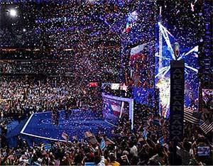 Hillary Breaks Glass Ceiling