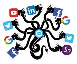 Facebook Google Twitter hydra