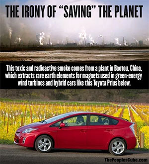 Environmental Irony - Prius and toxins