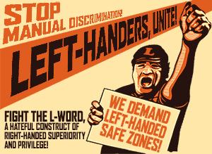 Left-handers unite poster