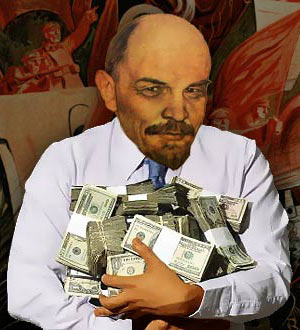 Lenin a German Agent cartoon