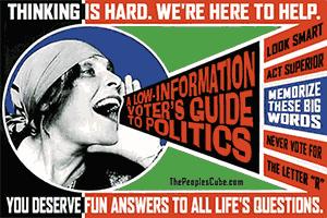 Low Information Voter parody poster Rodchenko Lilia Brik