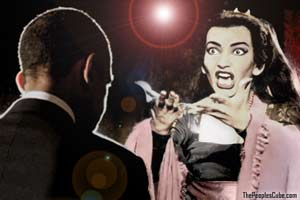 Medea heckles Obama funny cartoon