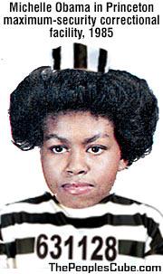 Michelle Obama in Princeton Prison 1985