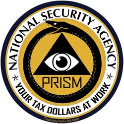 NSA secret PRISM logo parody
