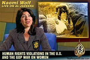 Naomi Wolf on Al Jazeera cartoon