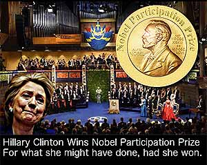 Hillary's Nobel Participation Prize