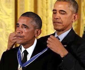 Obama awards himself
