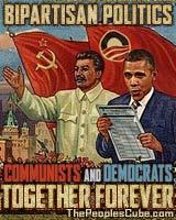 Bipartisan politics parody poster