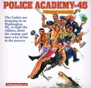 police academy trump