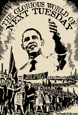 The glorious world of Next Tuesday with Obama parody poster