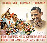 Thank you, Obama, for saving the children poster