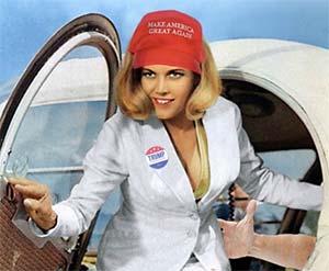 Pussy Galore endorses Trump
