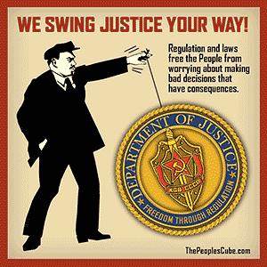 Poster parody - Lenin Swings US Dept. of Justice