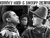 Romney Hood and Sheriff Obama Cartoon