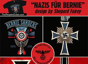 Bernie Sanders Nazi chic Shepard Fairey